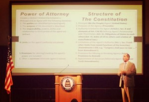 On Stage with Structure of Constitution