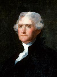 Thomas Jefferson Declaration of Independence & champion of religious freedom