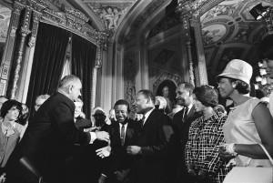 Lyndon Johnson and Martin Luther King, Jr.