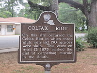 Site of Colfax Massacre, Origin of Cruikshank v. US