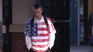Student Wearing American Flag
