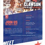 Curt Clawson Meet & Greet April 8 4-6 PM Colonial Country Club