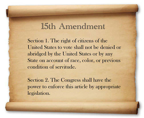 the 15th amendment and the discriminatory practices of the prevention of the black americans to vote The aim of reconstruction and these amendments was to free black americans from white oppression and to give them full literacy tests and other discriminatory practices, finally allowing african americans to fully exercise the right to vote that the 15th amendment had promised them.