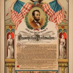 Proclamation featuring Lincoln