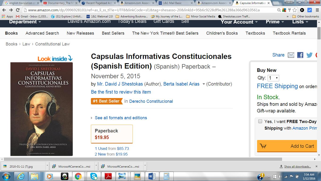 Cápsulas Informativas Constitucionales Becomes #1 on Amazon