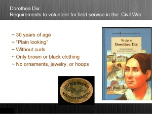 Dorothea Dix, Nurse Standards