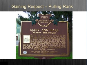 "Mary Ann ""Mother Bickedyke"" Plaque"