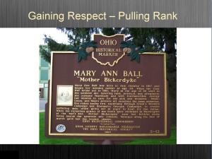 "Mary Ann ""Mother Bickedyke"" Plaque"