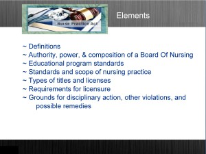 Elements of the Nurse Practice Act