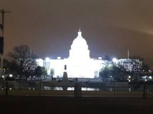 The Capitol Building on Inauguration Night