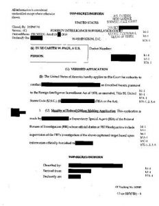 Carter Page FISA Warrant