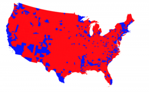 2016 Election Results by Counties of the United States