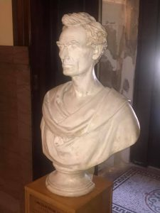 Lincoln Bust in the Old Lee County Courthouse, Dixon, IL
