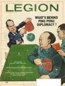 Ping Pong Diplomacy American Legion Magazine 1971