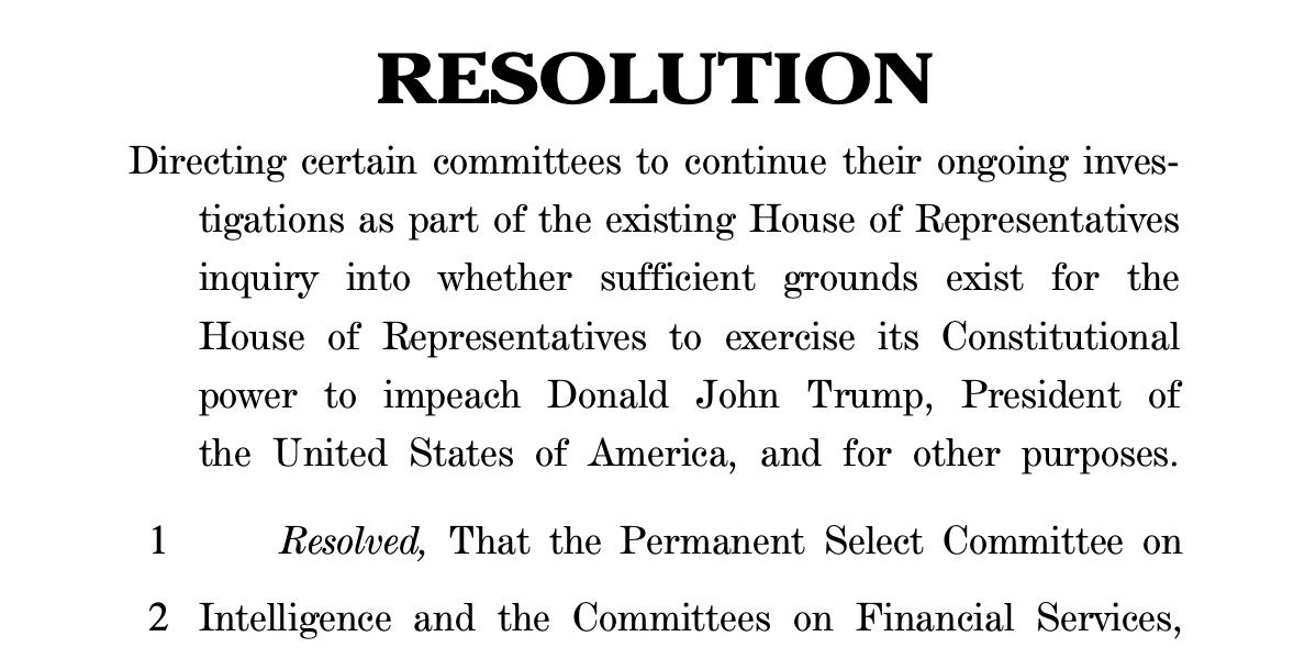 "The Pretend House Resolution Regarding the ""Impeachment Inquiry"""